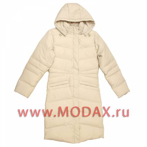 Длинное пуховое женское пальто Reebok с отстегивающимся капюшоном.